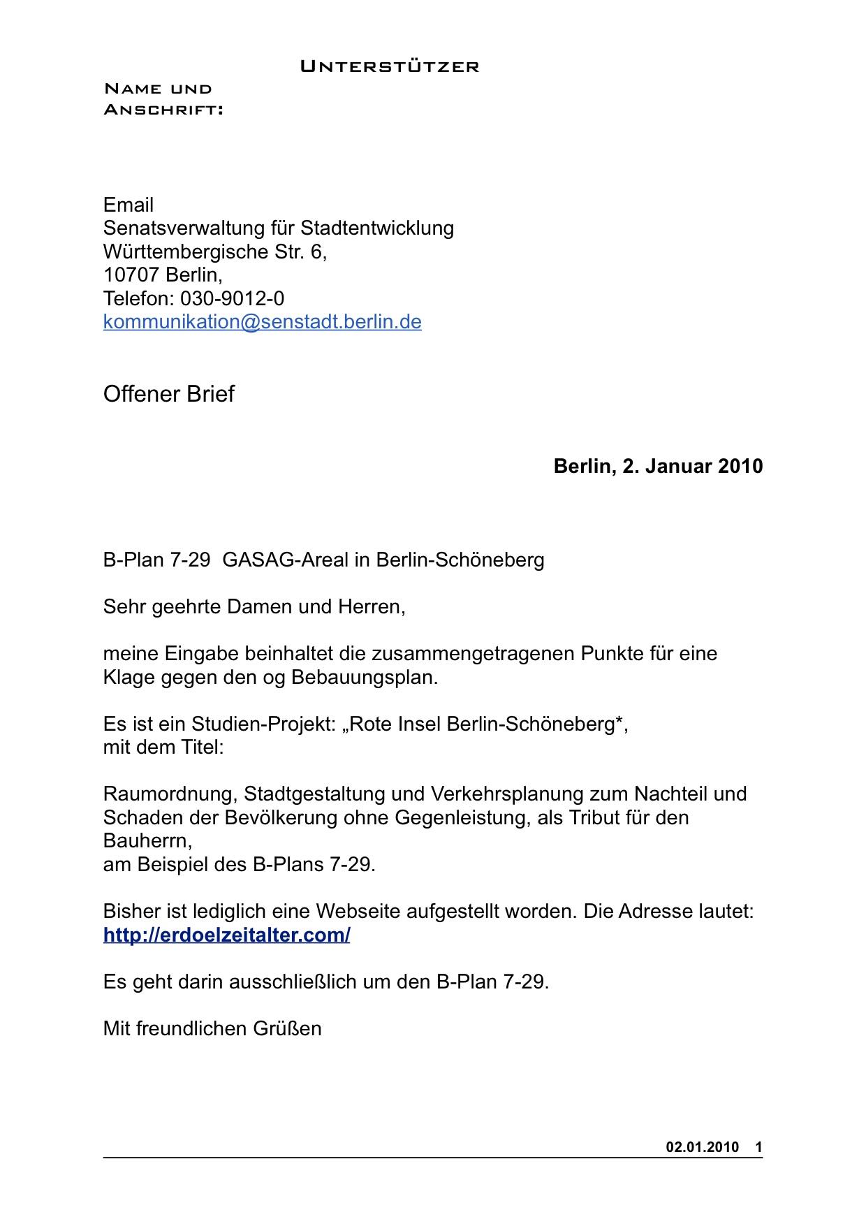 Offener brief für unterstützer pdf