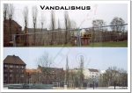 Vandalismus des AmtesWestansicht