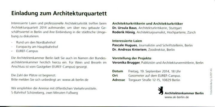 Einladung Architekturquartett %22Implantate%22