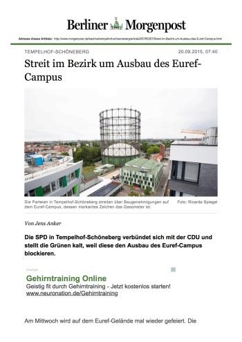 Tempelhof-Schöneberg - Streit im Bezirk um Ausbau des Euref-Campus - Tempelhof-Schöneberg - Berliner Morgenpost